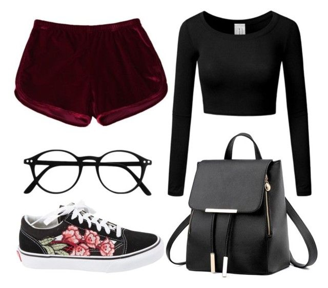 """Red Velvet"" by liaperezmorales on Polyvore featuring Vans"