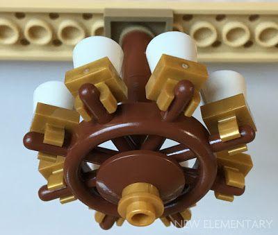 A LEGO chandelier