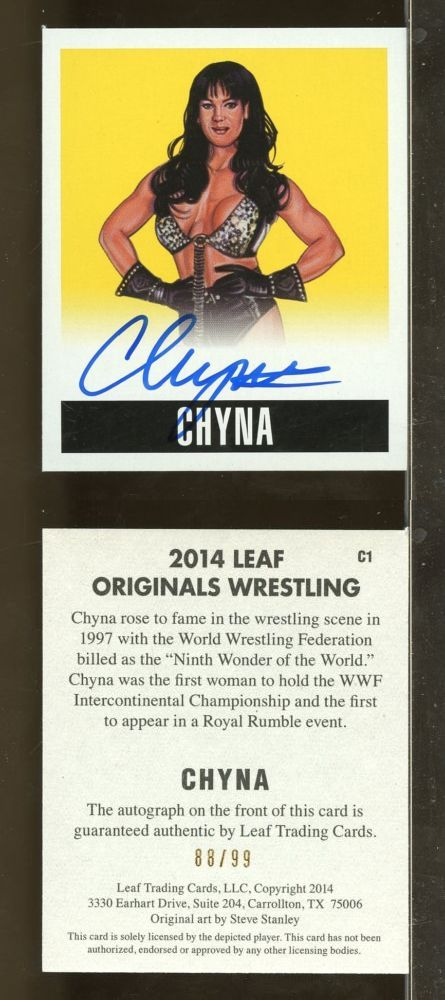 Wrestling Cards 183435: 2017 Leaf Originals Wrestling Wwe Chyna Yellow Auto 88 99 (Ay10) -> BUY IT NOW ONLY: $85 on eBay!