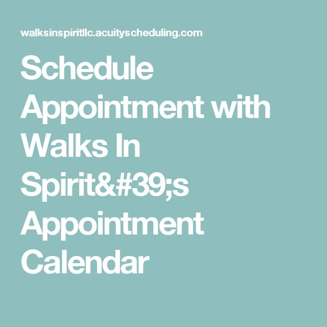 Schedule Appointment with Walks In Spirit's Appointment Calendar