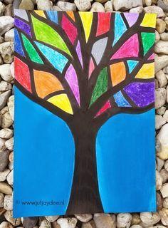 Juf Jaydee: Een boom vol kleurtjes - wasco en ecoline