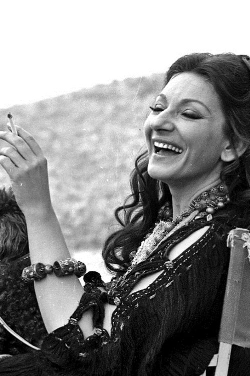Maria Callas no set de Medea, 1969