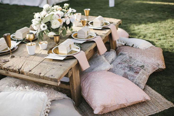 Weddings can be a long day for some kiddos on your guest list. Make them a kids' table to keep them entertained.
