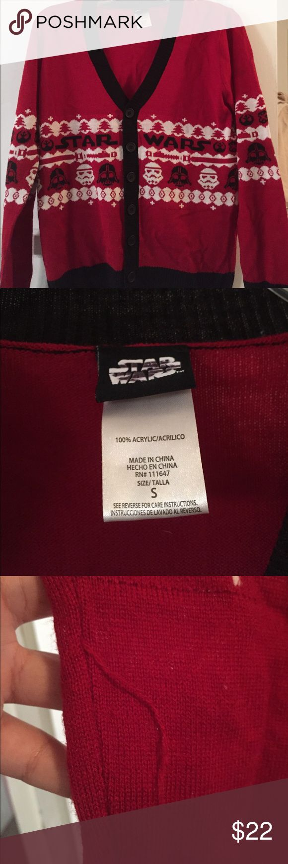 Star Wars darth vador ugly Christmas sweater S Pre owned with one run away string Star Wars Jackets & Coats Vests