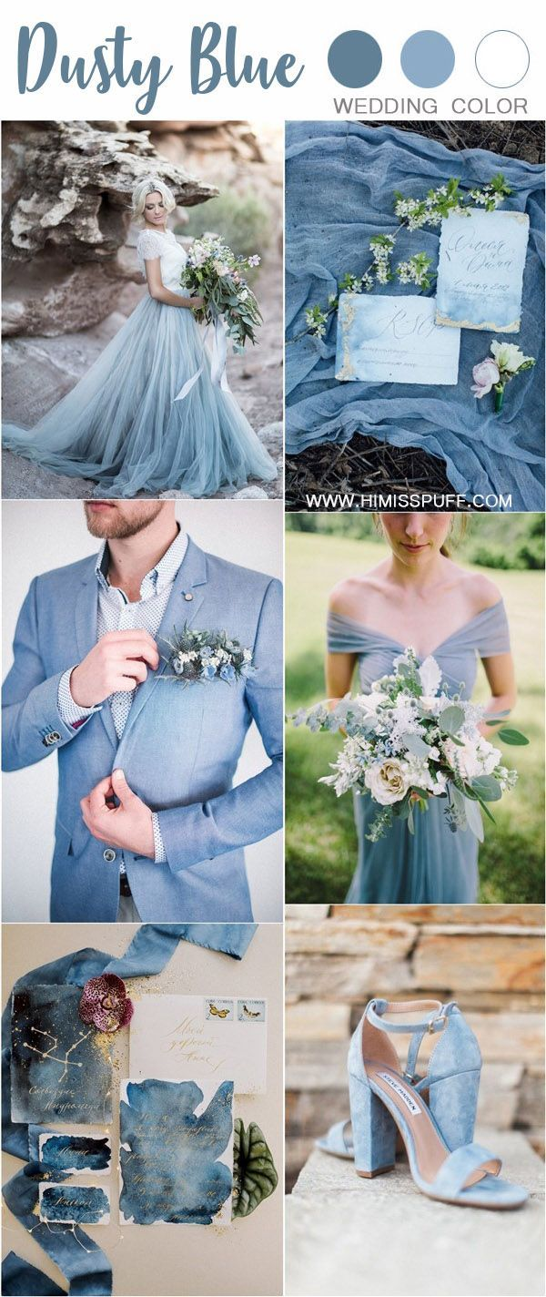 50 Dusty Blue Wedding Color Ideas For 2020 Wedding Colors Blue Wedding Theme Colors Blue Wedding Dresses
