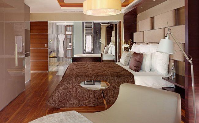 Open concept bathroom bedroom design