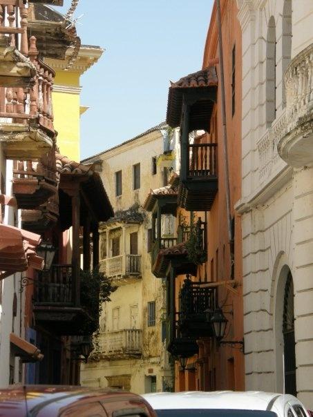 The facades of Cartagena Colonial