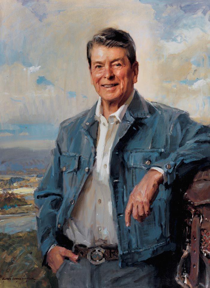 Ronald Reagan Presidential Portraits Everett Raymond
