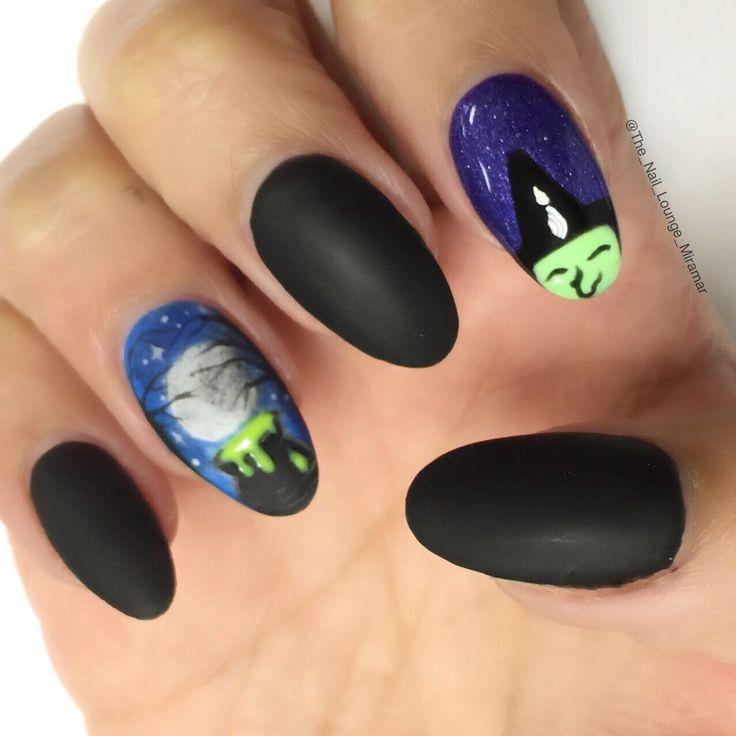 Halloween witch nail art desifn - 832 Best Nail Art Images On Pinterest Nail Art Designs