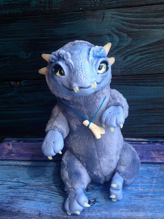 FANTASY PLUSH ANIMALS Baby Cloud Dragon Ooak Fantasy Creature