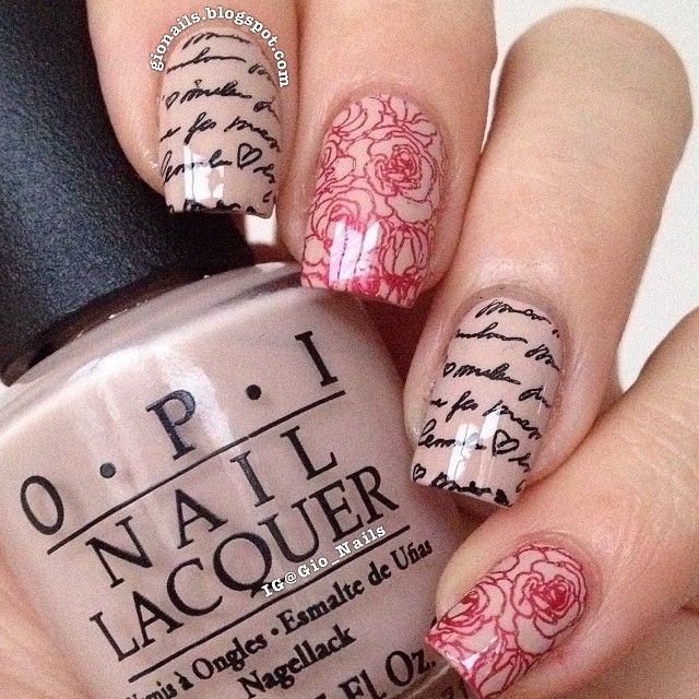 301 best nail stamping images on pinterest make up nail art and ps romantic nails prinsesfo Gallery