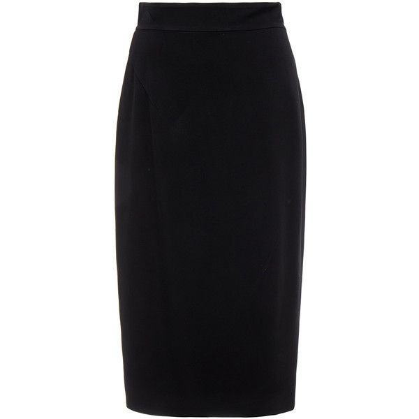 Raoul Midi Black Pencil Skirt ($125) ❤ liked on Polyvore featuring skirts, black, knee length pencil skirt, pencil skirt, high waisted midi skirt, high-waisted midi skirts and midi skirt