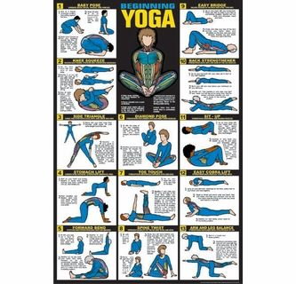 Beginning Yoga Fitness Chart F26