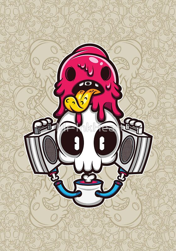 Skull candy cartoon character photographic prints by mr inkheart redbubble