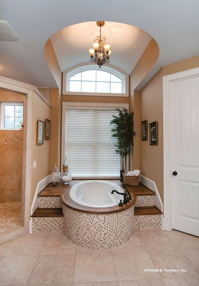 This master bath has an elegant barrel vaulted ceiling for Master bathroom vaulted ceiling