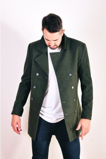 Double breasted Coma jacket in olive by Nique