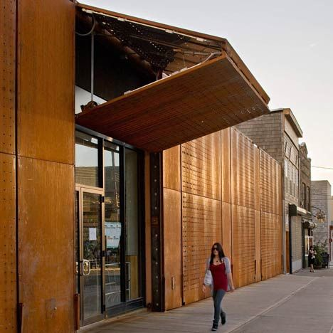 The wyckoff exchange by andre kikoski a folding corten Folding facade