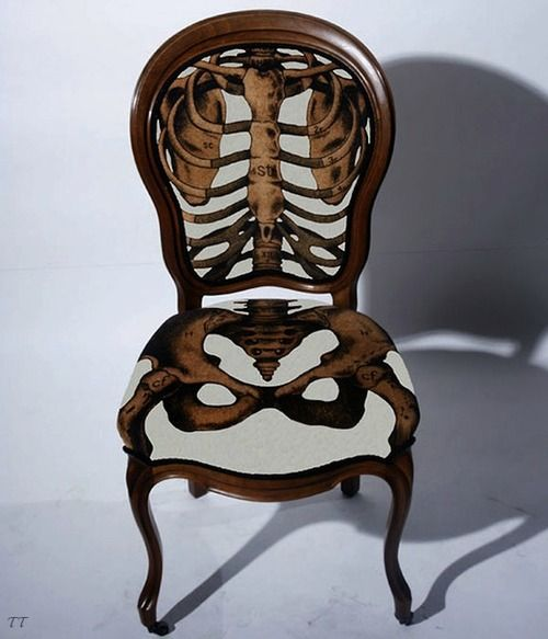 So cool: Skulls, Dining Rooms, Skeletons Chairs, Anatomical Correction, Bones, Sam Edkin, Furniture, Design, Correction Chairs