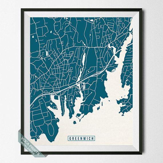 Die Besten Greenwich Map Ideen Auf Pinterest - Greenwich connecticut on a us map