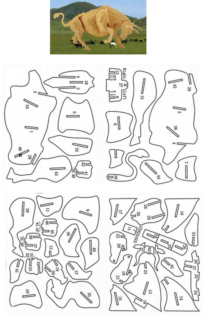 3D Puzzle -Touro (bull)