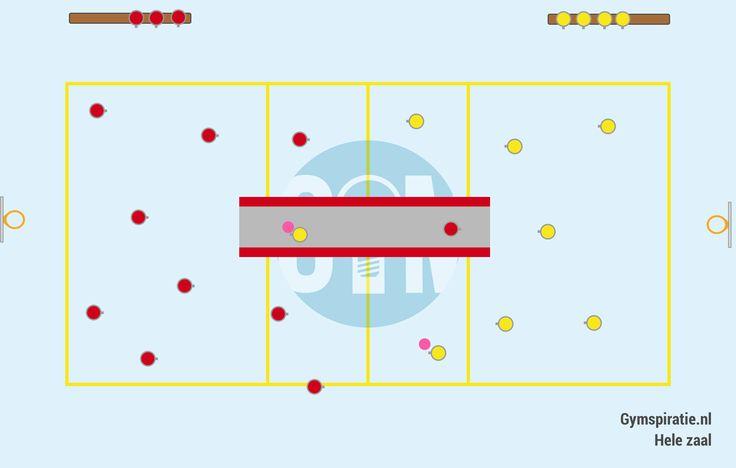 Lange mat trefbal - Leuke trefbalvorm met meer spanning en uitdaging.