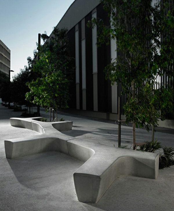 mobilier urbain, des bancs uniques