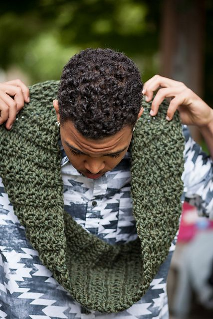 Ravelry: awurama's Forest Green Waffle Cowl