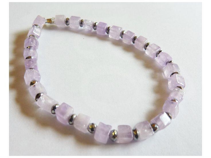 #Bracelet #Améthyste et #Hématite #zen #pierre #faitmain #handmade