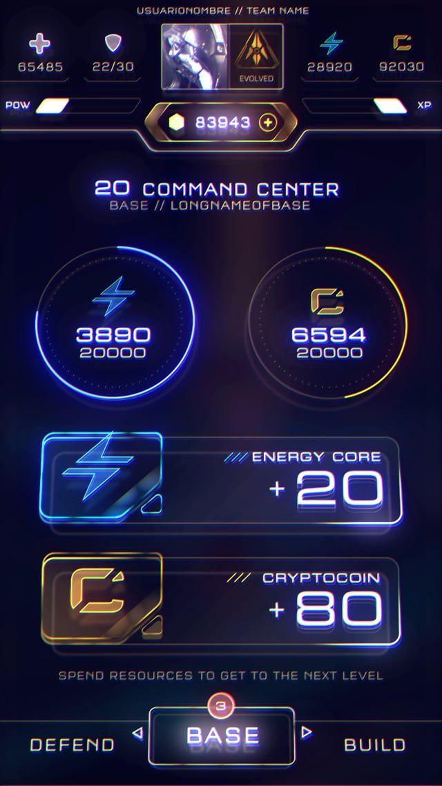 Game menu design
