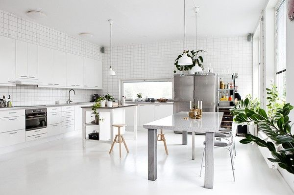 White everything + Green plants = Fresh - emmas designblogg