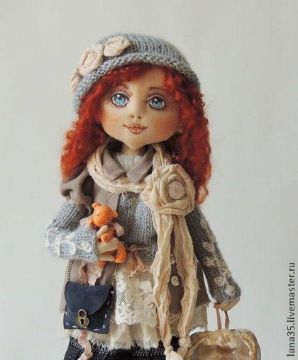 София - бежевый,интерьерная кукла,коллекционная кукла,бохо стиль,подарок девушке