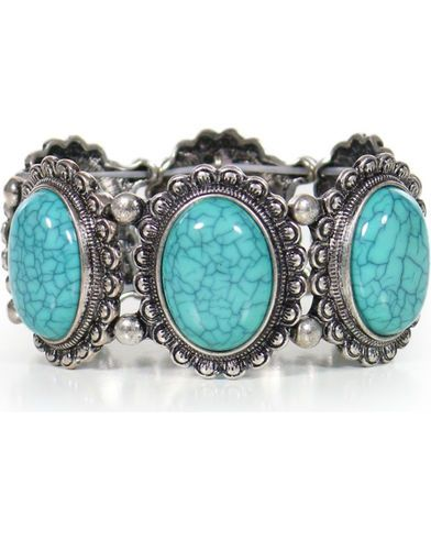 Shyanne Women's Turquoise Concho Bracelet - Country Outfitter