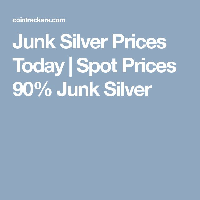 Junk Silver Prices Today | Spot Prices 90% Junk Silver