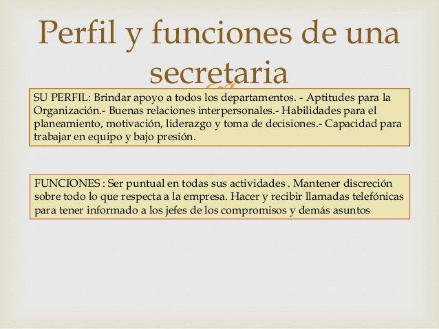 Funciones de Secretaria