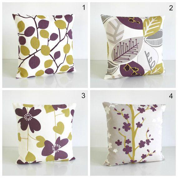 "20x20 cushion cover, 20"" pillow cover,  sofa pillow, scandinavian pillow, pillow case, pillow sham, slip cover - Nordic Aubergine Collection"