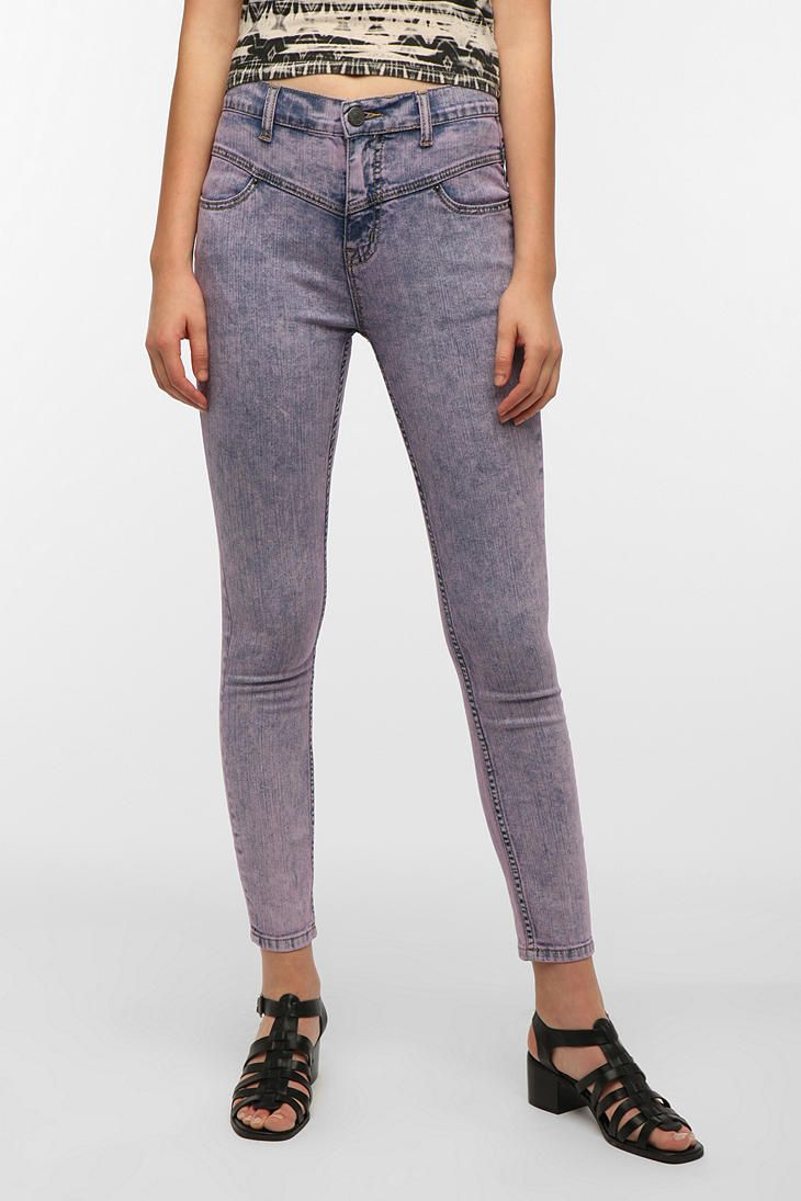 BDG High-Rise Seamed Jean - Lilac Acid Wash