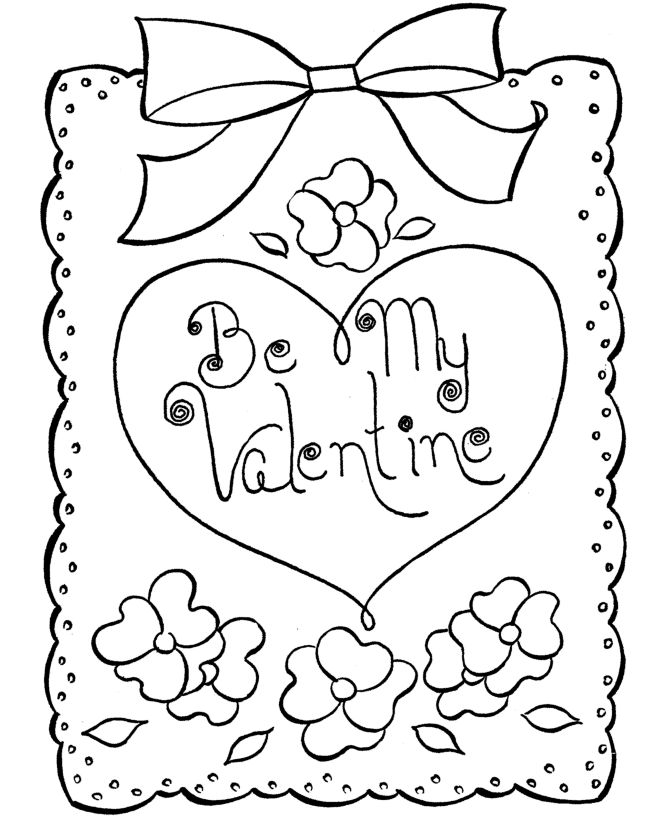 Be my valentines cards coloring pages valentines cartoon coloring pages