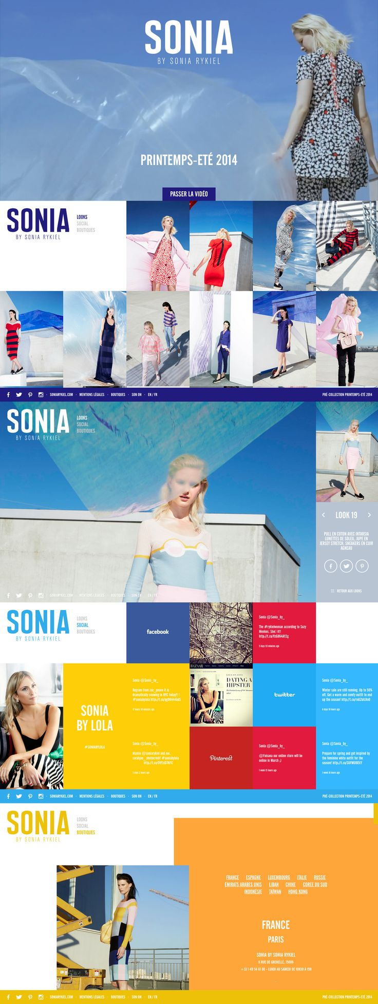 Sonia By Sonia Rykiel  A new pretty cool website for Sonia Rykiel. Nice  smooth transitions. http://soniaby.com