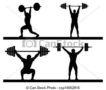 Olympic Lifting Silhouette