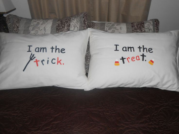 Halloween  Bedroom Decor for Couples - Trick or Treat Pillowcases by…