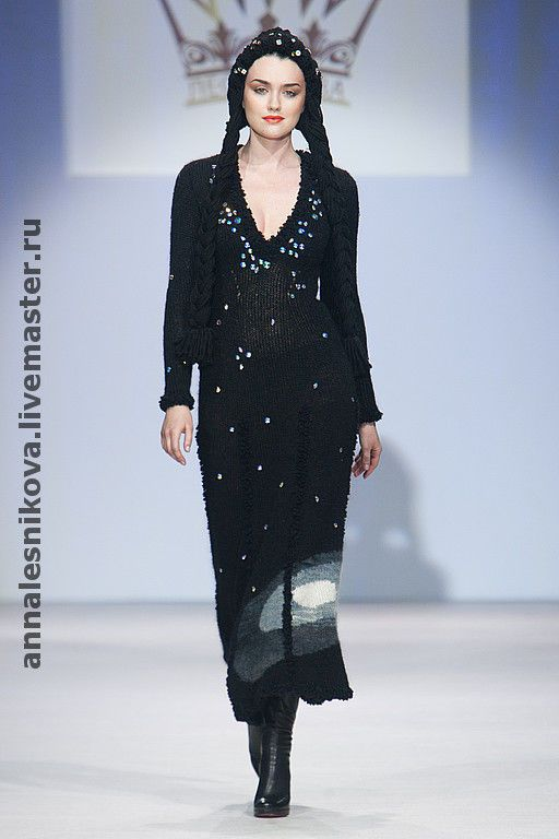"""Купить платье """"Космос"""" - платье вязаное, платье вязаное купить, вязаное платье, авторское платье"""