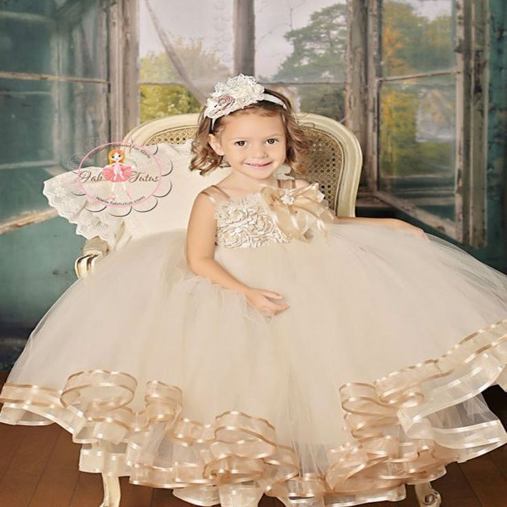 >> Click to Buy << Pageant Dresses for Girls Glitz Ball Gown Kids Beauty Pageant Dresses Ankle-Length Flower Girl Dress Brown Mother Daughter Dress #Affiliate