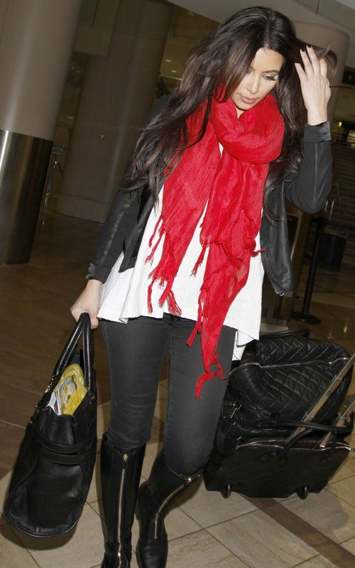 Need a plain red scarf and a cheetah scarf, just to dress up a casual outfit!