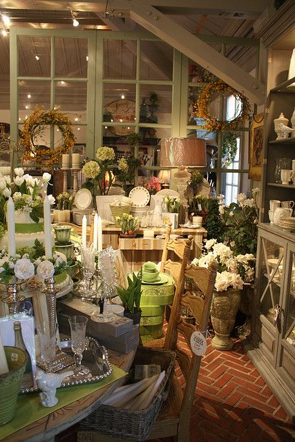 Filoli Garden and Gift Shop - Love the brick floor.