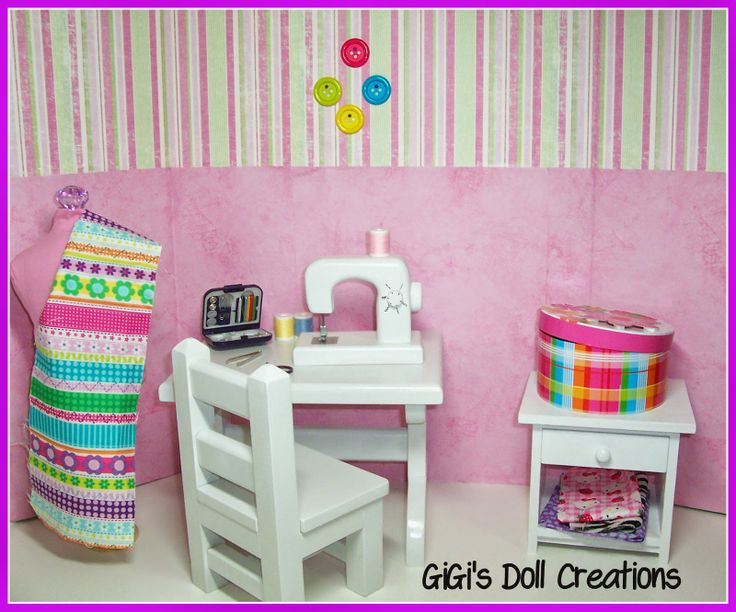 GiGi's Doll Creations: 18 inch doll sewing room tutorial