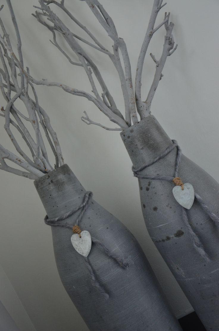 25 unieke idee n over touw flessen op pinterest touw wijnflessen flessen versieren en - Versieren haar badkamer ...