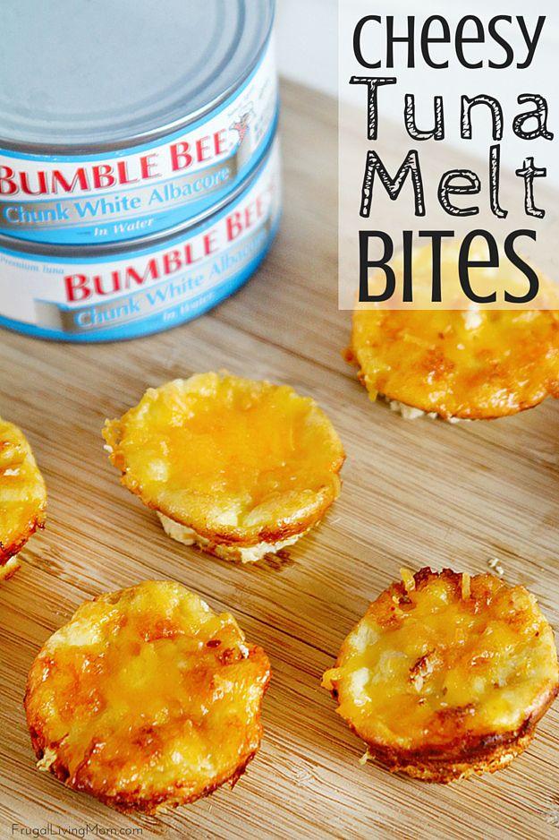 Cheesy Tuna Melt Bites #TunaStrong #CG