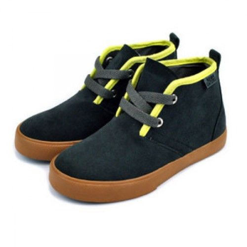 "Neon Eaters - ""Desert Boot"" Charcoal/Lime"