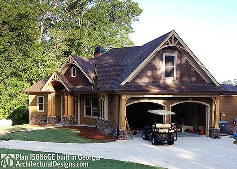 Classic Hip Roofed Cottage with Options - 15886GE | Craftsman, Mountain, Northwest, Ranch, Photo Gallery, 1st Floor Master Suite, Bonus Room, Butler Walk-in Pantry, CAD Available, Jack  Jill Bath, MBR Sitting Area, PDF, Split Bedrooms, Corner Lot | Architectural Designs