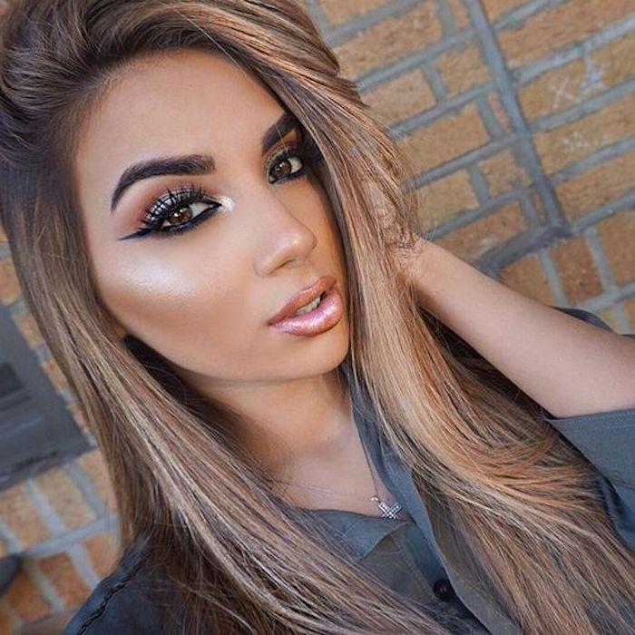 Haare hellbraune lange Lange Haare